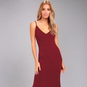 LULUS Infinite Glory Wine Red Maxi Dress
